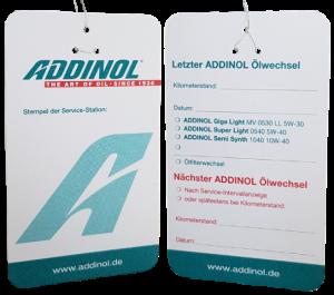 Addinol Ölzettel